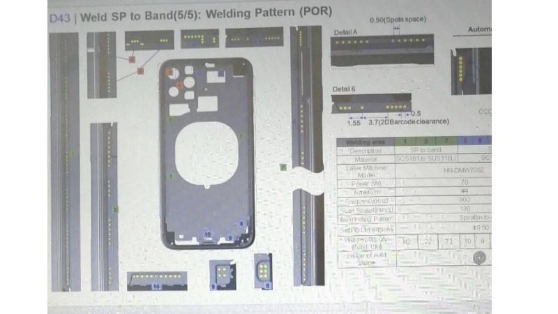 iphone xr purported schematic weibo twitter iPhone XR