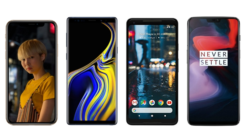 iPhone XS vs Samsung Galaxy Note 9 vs Pixel 2 XL vs OnePlus 6: Price in India, Specifications Compared