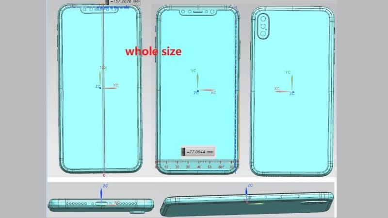 iPhone X Plus Schematics Leak Suggests Triple Camera Lens