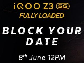 64MP कैमरा वाला iQoo Z3 फोन भारत में 8 जून को होगा लॉन्च, जानें स्पेसिफिकेशन्स