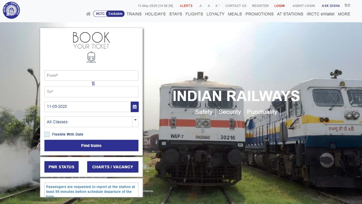 Train Services Resume: How to Book Tickets Online on IRCTC Website, Mobile App