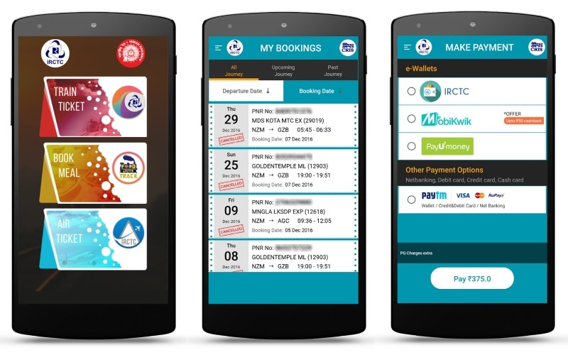 irctc rail connect app launched with new features