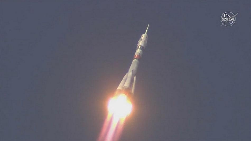 Space Station Crew Blast Off Despite Virus-Hit Build Up