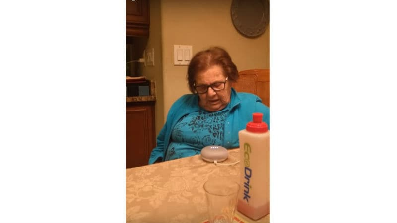 Italian Grandmother's Reaction to 'Goo Goo' Google Home Goes Viral