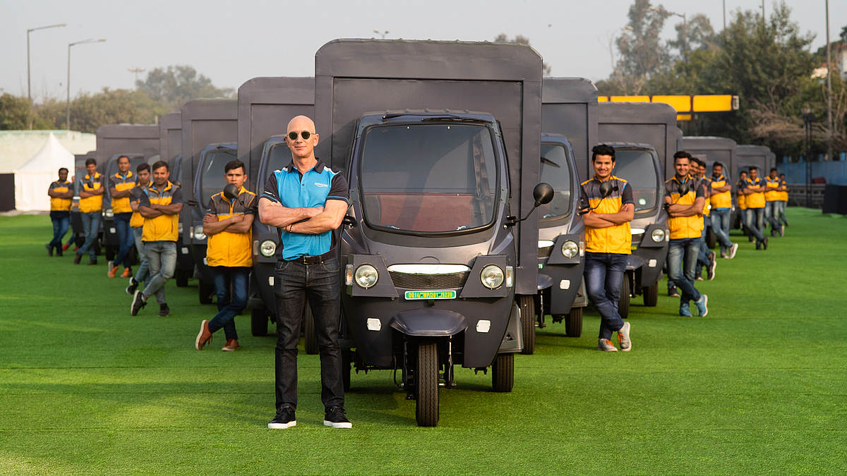 Amazon India Introducing Electric Delivery Rickshaws, Pledges to Have 10,000 EVs on Road by 2025 | Technology News - Gadgets 360 thumbnail
