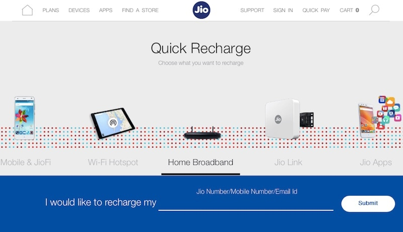 Reliance Jio Website Now Mentions Home Broadband, Jio Link Digital Set-Top Box