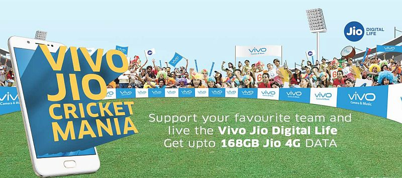 Reliance Jio's Vivo Cricket Mania Offer Gives Users Up to 168GB of