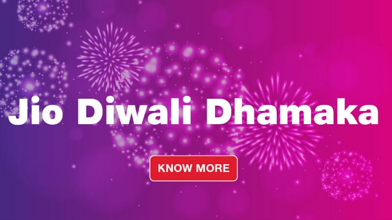 Jio 100 Percent Cashback, Jio Phone 2 Festive Sale, Jio Phone Gift Card, and More Diwali Offers