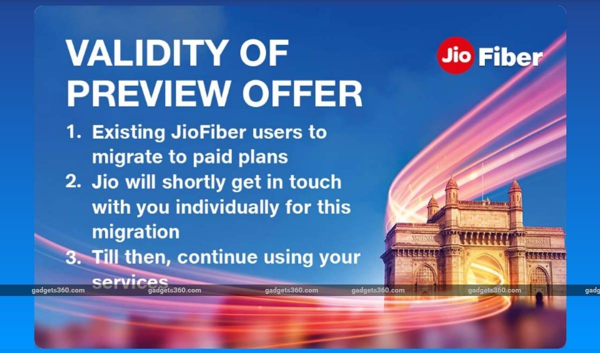 jio fiber preview migration Jio Fiber migration