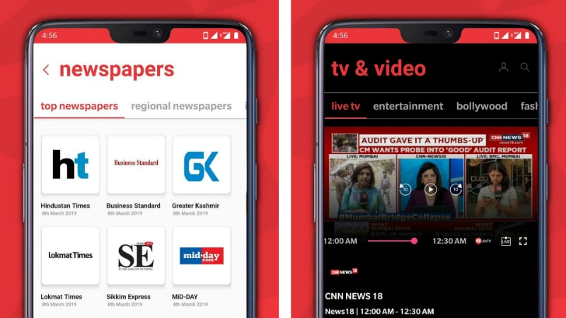 Jio News With Support for Over 12 Indian Languages Debuts on Android, iOS, Web, Next TGP