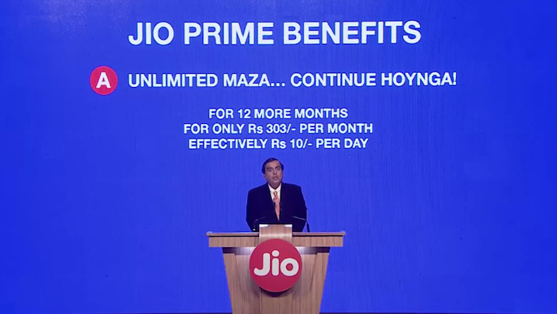 Jio Prime Subscribers Can Now Enjoy New 'Buy One Get One Free Recharge' Offer