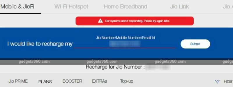 jio server down 312217 132253 7836 Reliance Jio Prime Recharge Plan Server Down