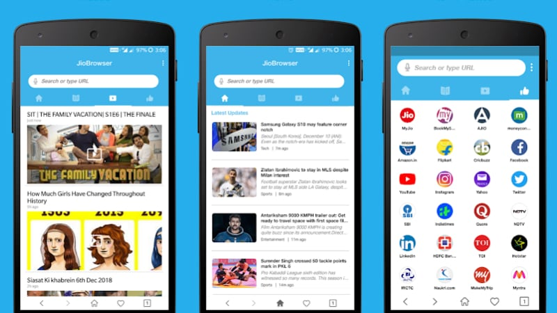 Jio Browser Launched for Android, Features Support for 8 Indian Languages