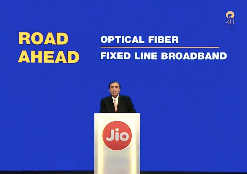 Jio Broadband JioFiber Launch 'Well on Track', Says Reliance Chairman Mukesh Ambani