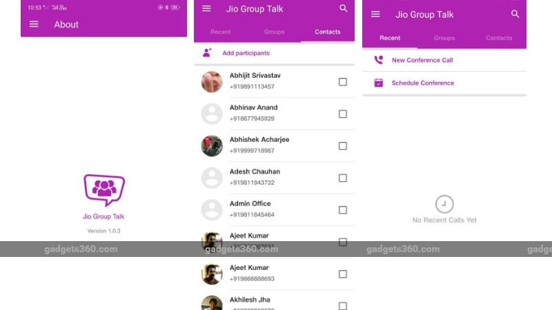 QnA VBage Jio GroupTalk Conference Calling App Launched for Android Users