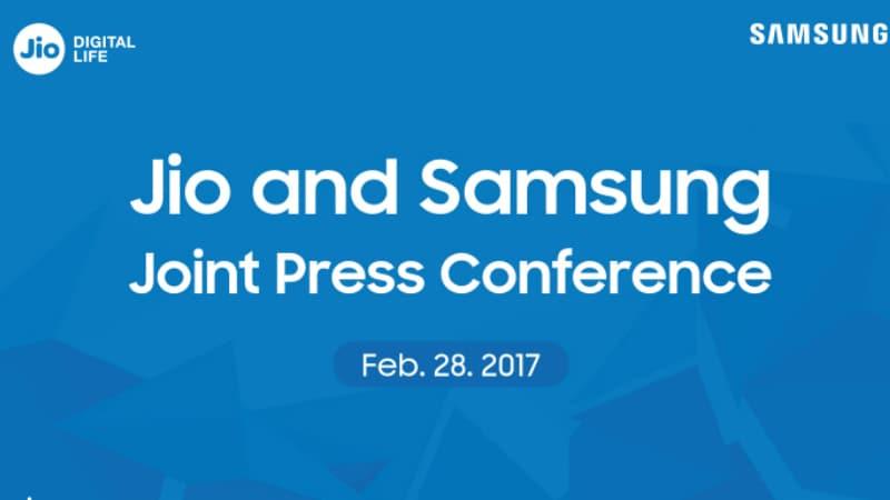 रिलायंस जियो और सैमसंग 28 फरवरी को आयोजित करेंगे साझा इवेंट