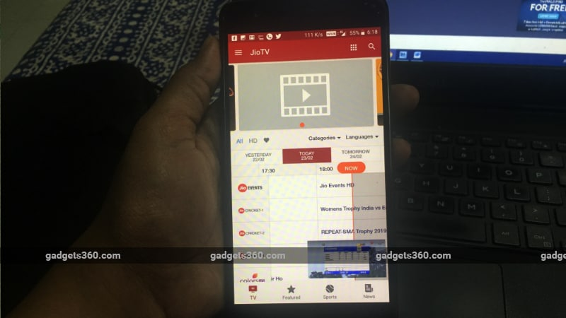 Jio TV Update Brings New Interface, Jio Cricket HD Channels to