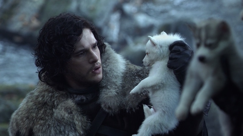 jon finds ghost game of thrones