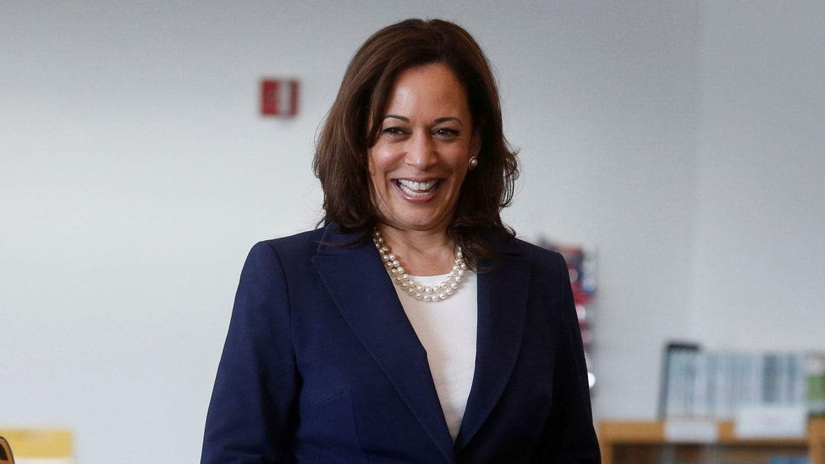 US Presidential Contender Kamala Harris Favours Look at Breaking Up Facebook