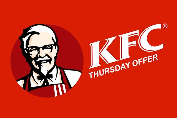 Current KFC Thursday Offers, Coupons: 4+4 Free on KFC Orders Today