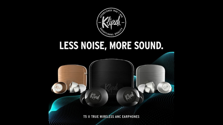 Klipsch T5 II ANC TWS Earphones With Bragi AI-Based Gestures, Dirac HD Sound Launched: Price, Specifications