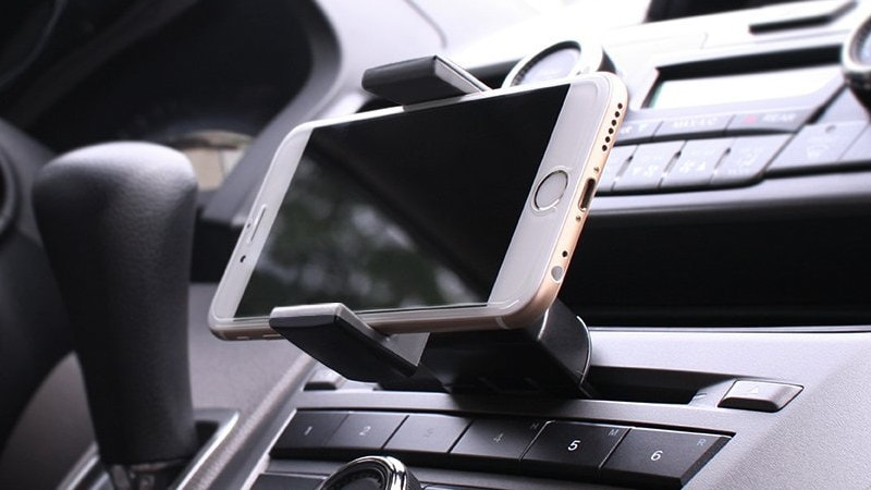 koomus cd mount iPhone holder car amazon CD mount