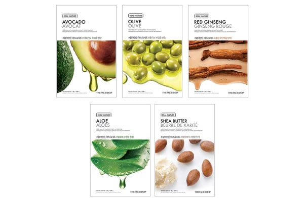 The Face Shop Unisex Glowing Masksheet Combo korean beauty products in india