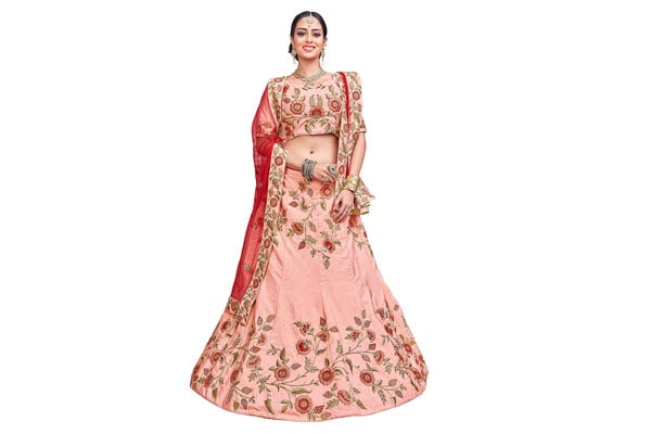 best lehenga designs AASVA Women's Silk Lehenga Choli Pink