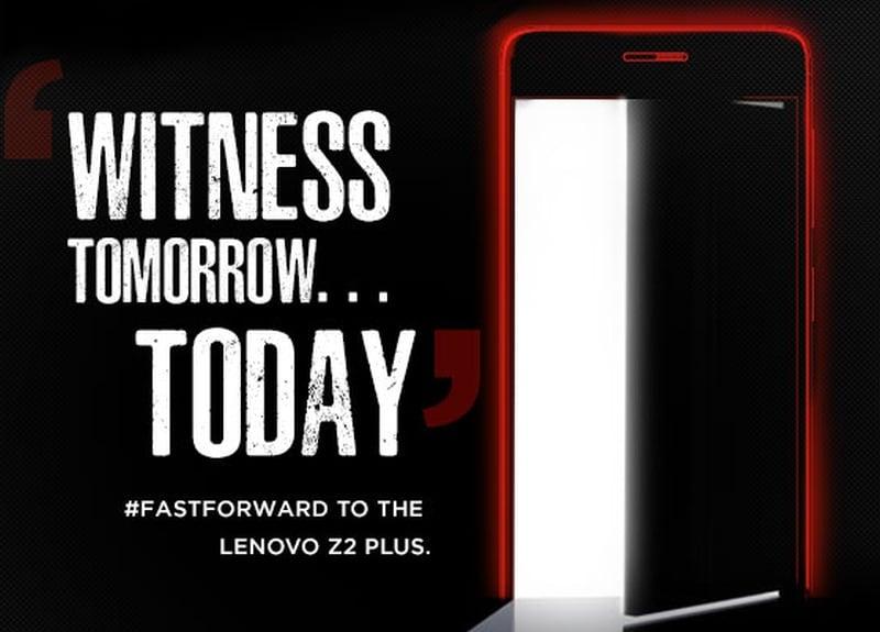 Lenovo Z2 Plus India Launch Set for Thursday