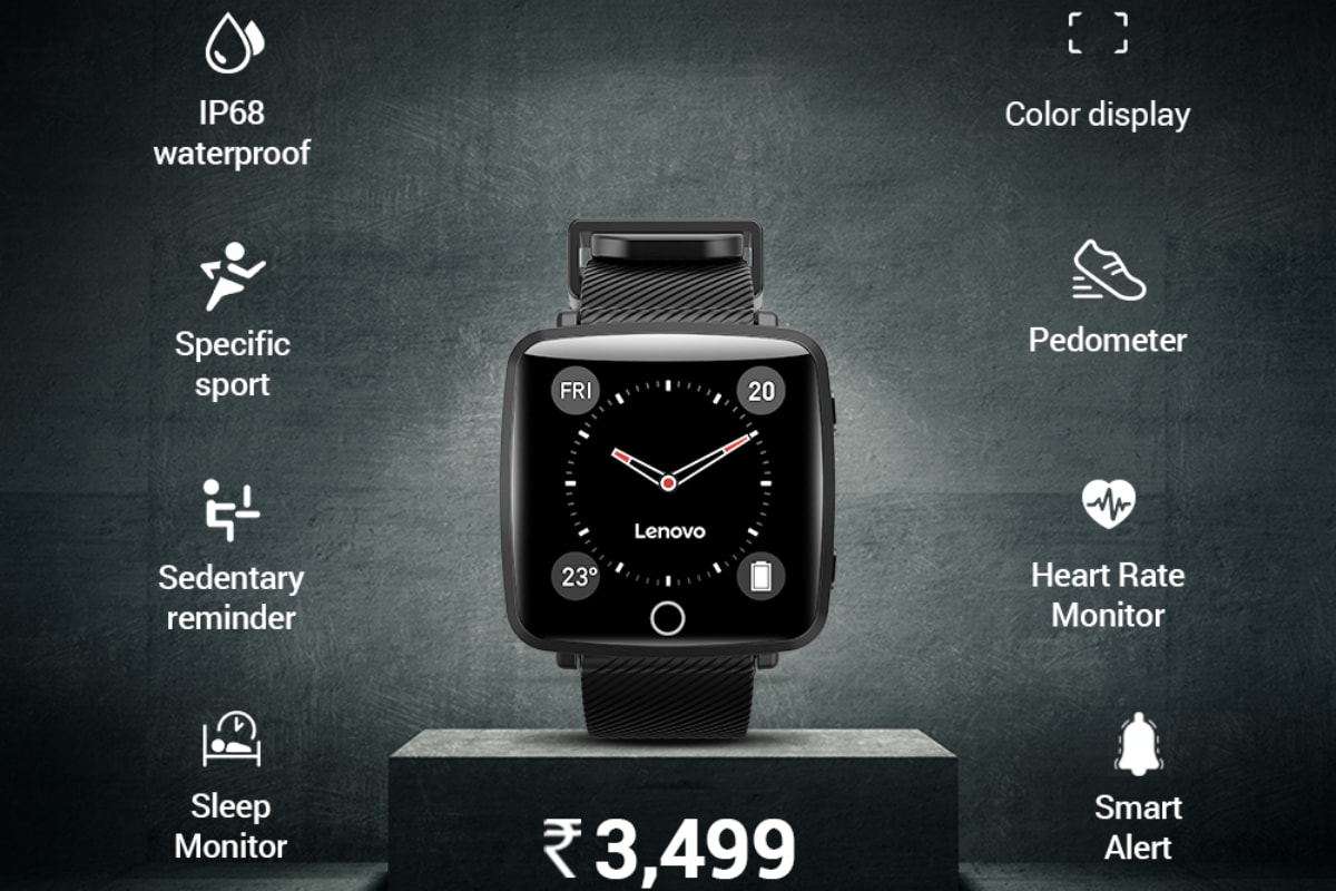 Lenovo Carme Smartwatch With Heart Rate Monitor, IPS Colour Display Launched in India at Rs. 3,499