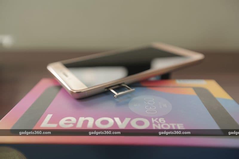 lenovo k6 note sim gadgets360 lenovo