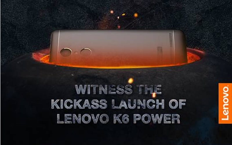 Lenovo Vibe K6 Power to launch on 29 November in New Delhi