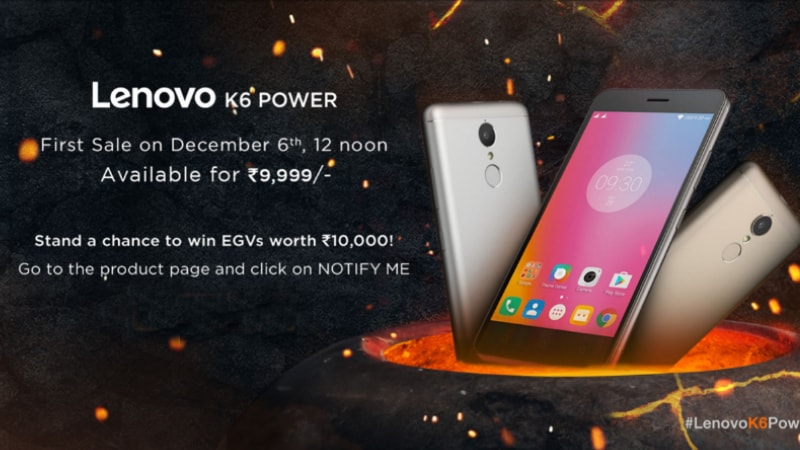 Lenovo K6 Power Launch Day Offers Include Exchange Schemes and Discounts