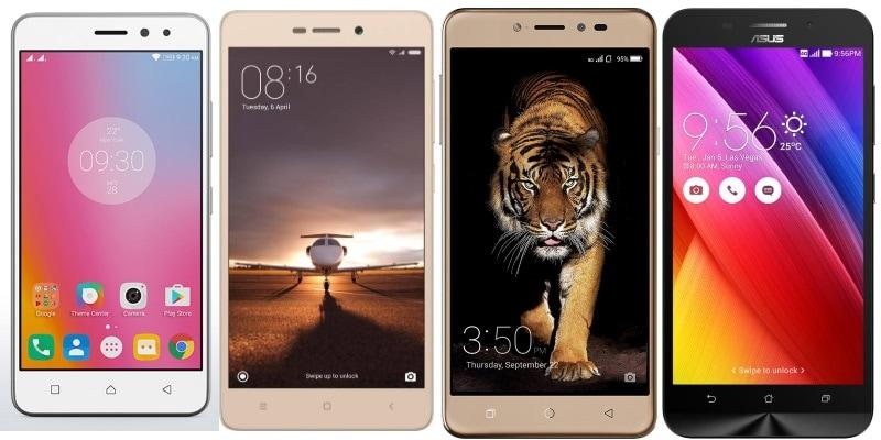 Lenovo K6 Power vs Xiaomi Redmi 3S Prime vs Coolpad Note 5 vs Asus ZenFone Max: The Ultimate Battery Showdown