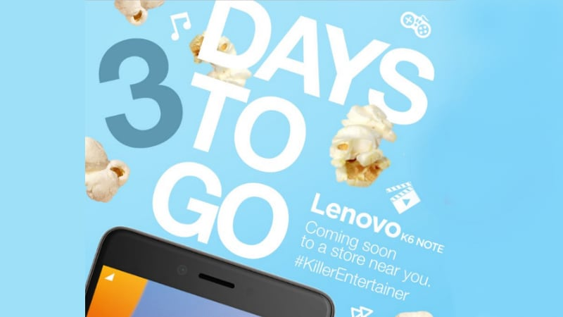 Lenovo K6 Note India Launch Set for Wednesday