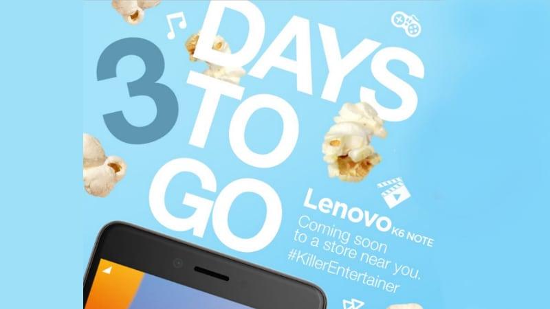 Lenovo K6 Note India Launch Set for Wednesday
