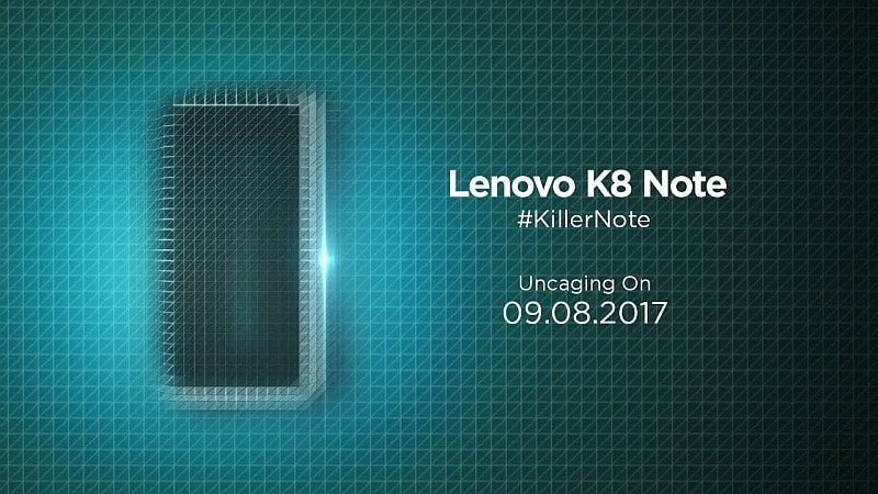 Lenovo K8 Note India Launch Set for Today: Where to Watch Live Stream