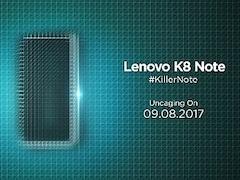 Lenovo K8 Note भारत में आज होगा लॉन्च