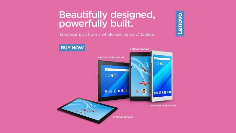Lenovo Launches Four New Tablets in Its Tab 4 Series in India: Price, Specifications