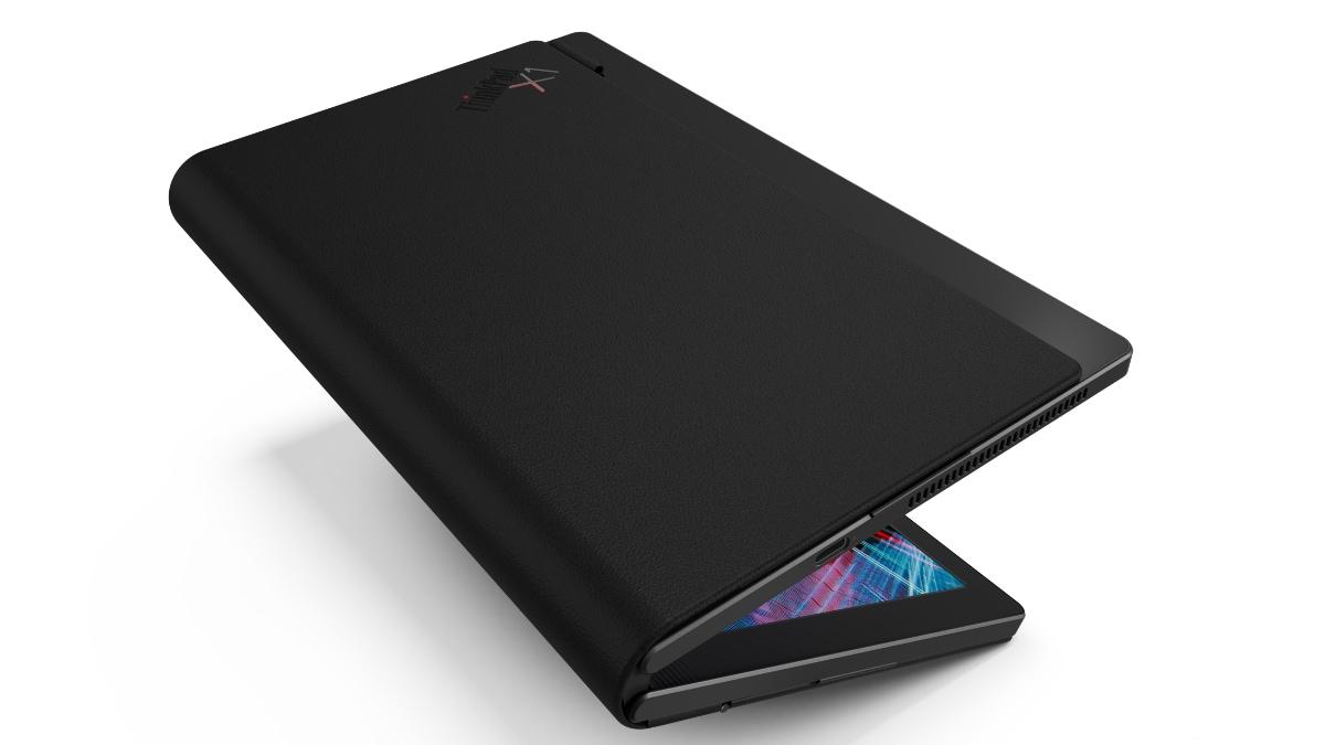 lenovo thinkpad x1 fold image folded Lenovo ThinkPad X1 Fold