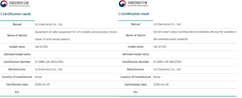 lg g7 thinq certification inline LG G7 ThinQ Press Renders