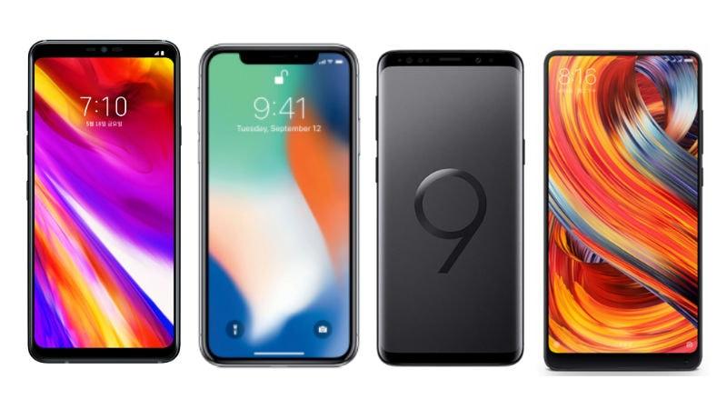 LG G7 ThinQ vs iPhone X vs Samsung Galaxy S9 vs Xiaomi Mi MIX 2S: Price, Specifications Compared