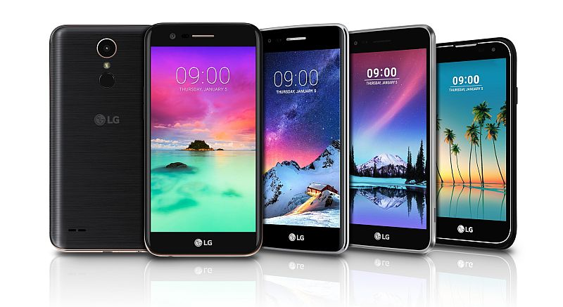 LG K3, K4, K8, K10 (2017), and Stylus 3 Smartphones Launched Ahead of CES