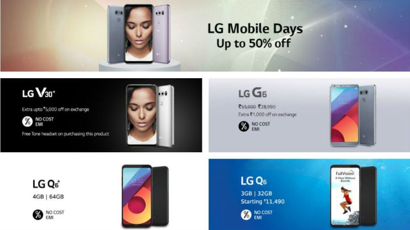 LG V30+, G6, Q6, Q6+ Available With Discounts in LG Mobile Days Sale on Amazon India