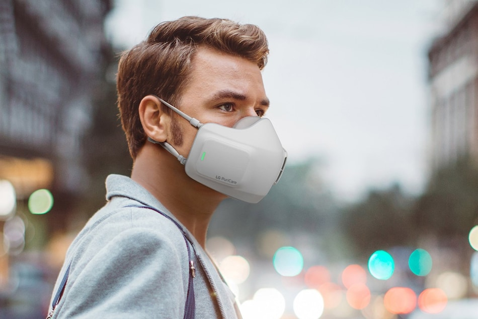 LG PuriCare Wearable Air Purifier Face Mask With Dual Fans Unveiled