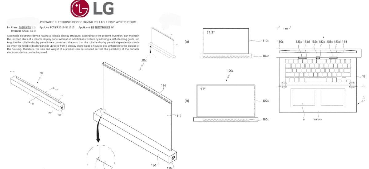 lg تطبيق براءة اختراع الكمبيوتر المحمول القابل للدحرجة جذر my galaxy LG