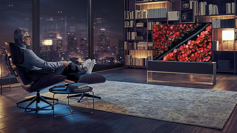lg rollable oled tv lg