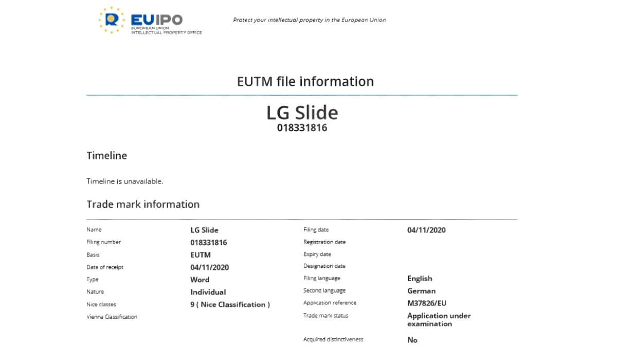 lg slide trademark euipo lg_slide_trademark_euipo