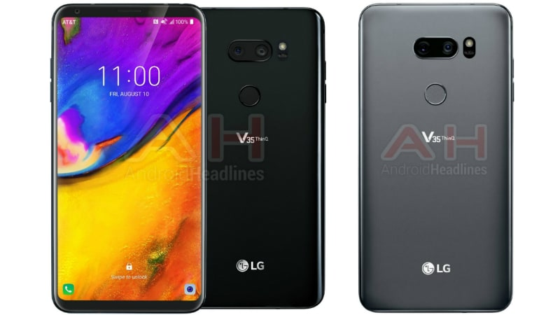 LG V35 ThinQ Renders Leak Shows No Display Notch; LG Expected to Use OLED Panels on V Series