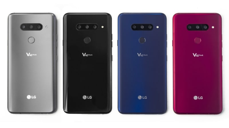 LG V40 ThinQ Unveiled With Snapdragon 845 SoC and Five Cameras